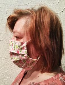 Gesichtsmaske seitlich